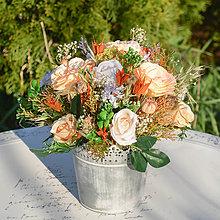 Dekorácie - Dekorácia na stôl s ružami - 11838486_