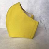 Rúška - Rúško tvarované 20 farieb  (Žlta) - 11838583_