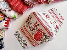Rúška - Dámske / dievčenské tvarované RÚŠKO s drôtikom - folklórna edícia - 11838146_