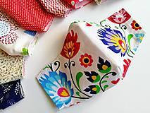 Rúška - Dámske / dievčenské tvarované RÚŠKO s drôtikom - folklórna edícia - 11838173_