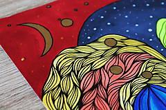 Kresby - Mesiac zo zlata - 11836868_