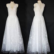 Šaty - Svadobné šaty na širšie ramienka a širokým pásom - 11837129_