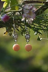 Náušnice - Náušnice - Ružová elegancia - 11839605_