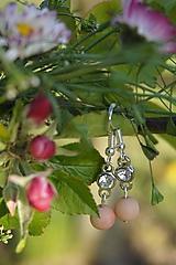 Náušnice - Náušnice - Ružová elegancia - 11839618_