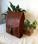 Batohy - Kožený batoh - urban hnedý - 11836895_