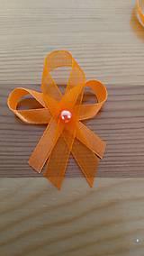 - Oranžové pierko s korálkou - 11839324_