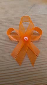 Pierka - Oranžové pierko s korálkou - 11839325_