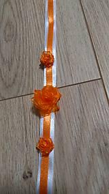 Náramky - Náramok pre družičky oranžový - 11839399_