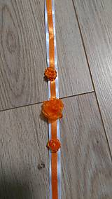 Náramky - Náramok pre družičky oranžový - 11839400_