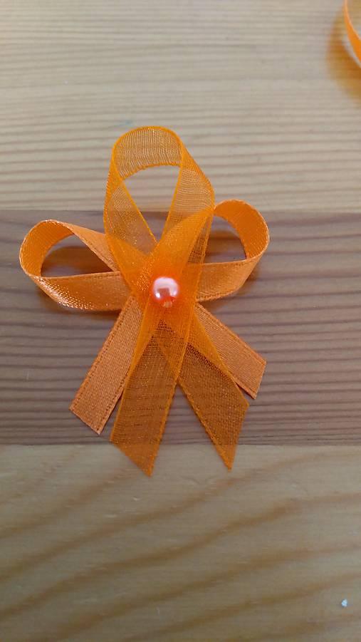 Oranžové pierko s korálkou