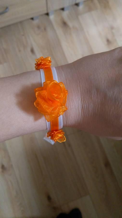 Náramok pre družičky oranžový