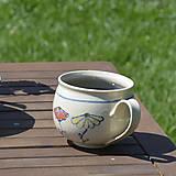 Nádoby - Šálka kvetinový vzor - 11839408_
