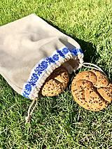 Iné tašky - Ľanové vrecúško na chlieb či pečivo - 11841704_