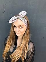 Ozdoby do vlasov - Vintage šatka do vlasov Zelená s ružovou čipkou - 11841633_