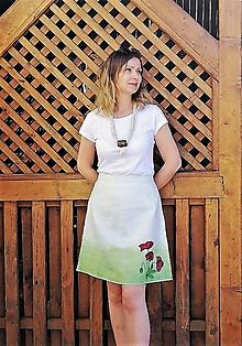"Sukne - ľanová sukňa ""maková"" - 11840713_"