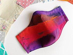 Rúška - Dámske / dievčenské tvarované RÚŠKO s drôtikom - 2 vrstvy (Art 1) - 11843042_