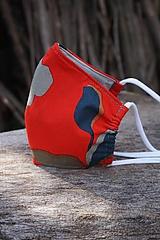 Rúška - Rúško červené vzorované - 11843419_