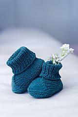 Topánočky - Detské papučky 100% merino vlna - 11841116_