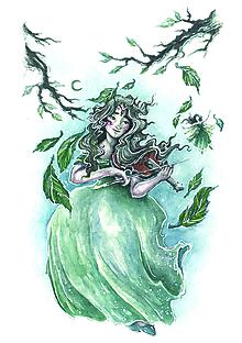Obrazy - Jarná husľová víla Art Print - 11844140_