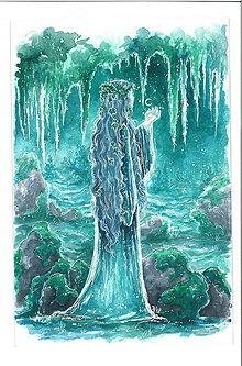 Obrazy - Elfka z krajov nevídaných Art Print - 11844435_