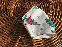 Rúška - ZĽAVA !detské rúško biele futro - 11843218_