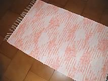 Úžitkový textil - Tkaný koberec ružovo-melírovaný - 11844170_