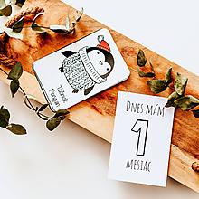 Detské doplnky - Novorodenecký balíček - míľnikové + kontrastné kartičky - 11845359_