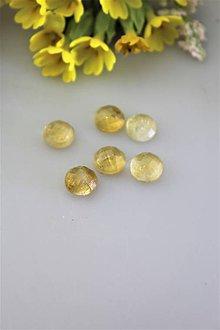 Minerály - citrín kabošon 8mm - brúsený - 11845341_