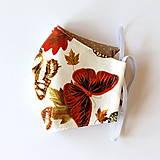 Rúško dámske - Biele s motýľmi