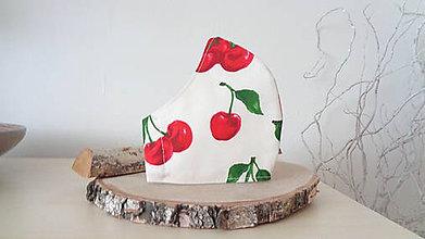 Rúška - Bavlnené rúško čerešne - 11846797_