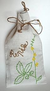 """Úžitkový textil - ľanové vrecko na bylinky """"Repík"""" - 11845497_"""