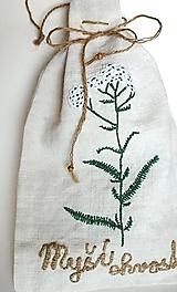 """Úžitkový textil - ľanové vrecko na bylinky """"Myší chvost"""" - 11845557_"""