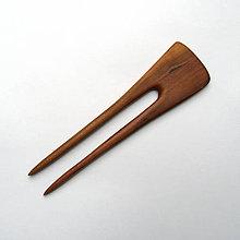 Ozdoby do vlasov - Drevená ihlica do vlasov - slivková - 11844847_