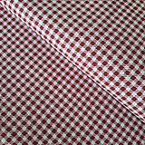 Textil - Červená kocka na bielej - 11845942_