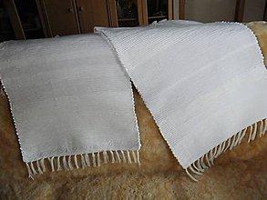 Úžitkový textil - Tkaný koberec biely - 11845715_