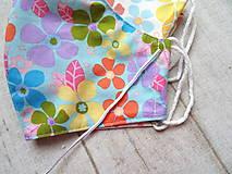 Rúška - Bavlnené rúška s drôtikom... Flowers - 11850669_