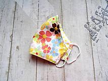 Rúška - Bavlnené rúška s drôtikom... Flowers - 11850676_