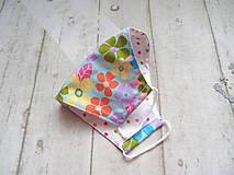 Rúška - Bavlnené rúška s drôtikom... Flowers - 11850680_
