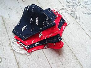 Rúška - Bavlnené rúška s drôtikom... Nautical - 11850594_