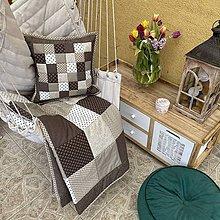 Úžitkový textil - Vzor hnedá s béžovou - 11850390_