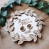 Prstene - Tanierik na obrúčky venček 4 - 11852395_