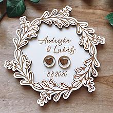 Prstene - Tanierik na obrúčky venček 3 - 11850845_