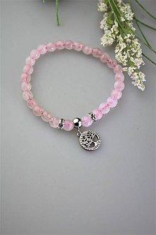 Náramky - ruženín náramok so stromom života - 11849356_