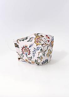 """Rúška - Dámske kvetinové dvojité rúško z ľanu a bavlny """"Sunbella"""" - 11851493_"""