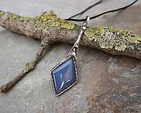 Náhrdelníky - Elegantný modrý achát - 11853317_