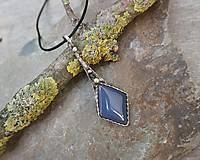 Náhrdelníky - Elegantný modrý achát - 11853318_