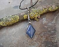 Náhrdelníky - Elegantný modrý achát - 11853319_