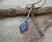Náhrdelníky - Elegantný modrý achát - 11853321_