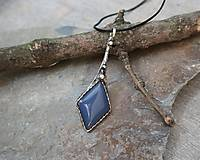 Náhrdelníky - Elegantný modrý achát - 11853322_