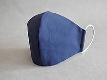 """- Dvojité rúško """" Navy Blue"""" - 11850196_"""